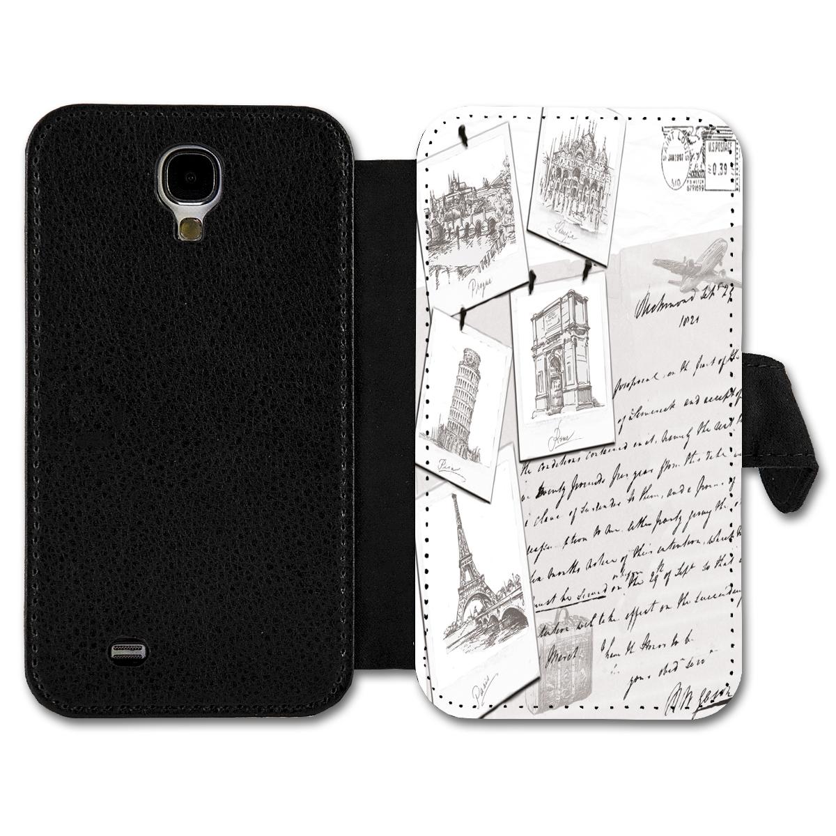 Book Style Flip Handy Tasche Case Schutz Hülle Schutzhülle Schale Motiv Etui -16